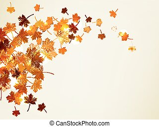 Flying autumn leaves background. EPS 10