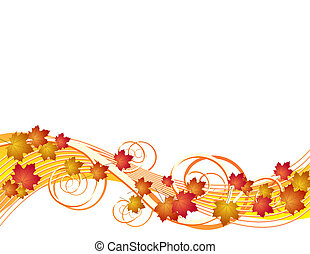 Flying autumn leaves background - Flying autumn leaves. ...
