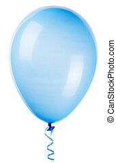 flying balloon isolated on a white background