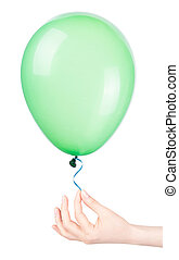 flying balloon with hand