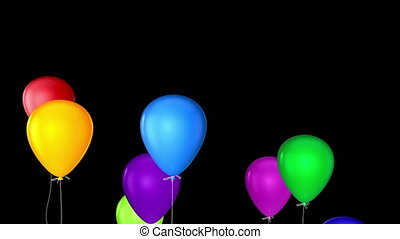 flying balloons with alpha