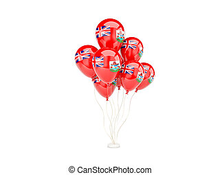 Flying balloons with flag of bermuda
