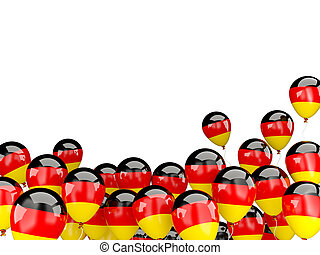 Flying balloons with flag of germany