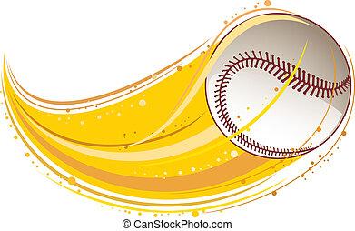baseball - flying baseball