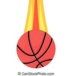 flying basketball ball sport