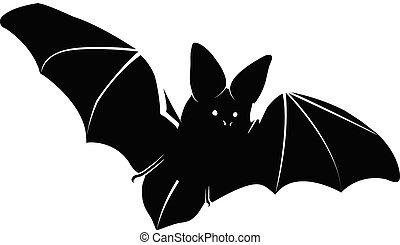 Flying Bat Silhouette Vector