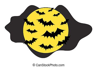 Flying Bats in the Night