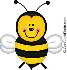 Flying Bee - Image representing a flying bee, isolated on...