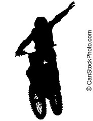 Flying biker man