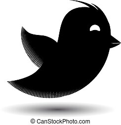 Flying bird icon isolated. Vector illustration