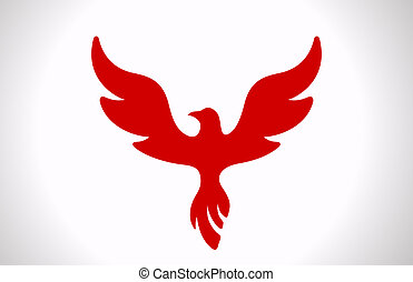 Flying Bird icon. - Logo Flying Bird Abstract. Luxury style...