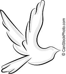 Flying bird, illustration, vector on white background.