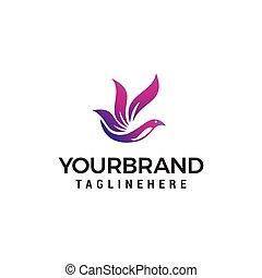 flying bird logo design concept template vector