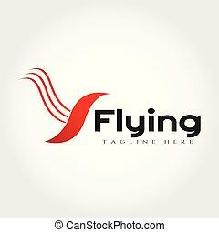 Flying bird logo design