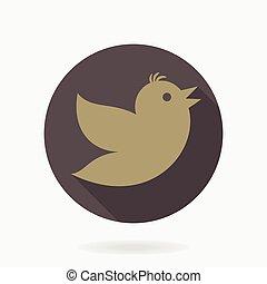 Flying Bird Vector Flat Icon