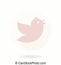 Flying Bird Vector Flat Icon