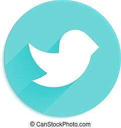 Flying bird vector icon