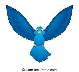 Flying Bird Vector Illustration