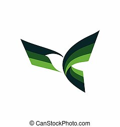 Flying Bird Vector Logo design