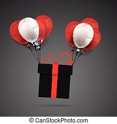 Flying Black Friday Gift Balloons