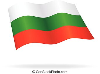 flying bulgarian flag bulgaria silk vector