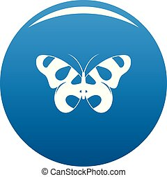 Flying butterfly icon blue vector