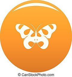 Flying butterfly icon vector orange