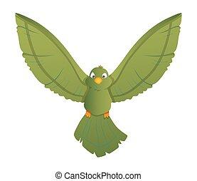 Flying Cartoon Bird Illustration