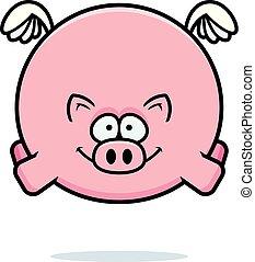 Flying Cartoon Pig