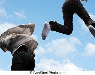 Flying children