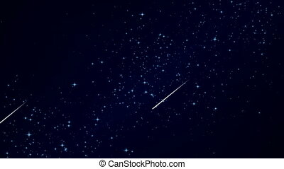 flying comet against the sky - Flying comet against the sky,...