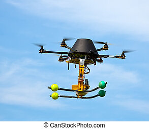 flying craft with four motors - remote controlled flying...