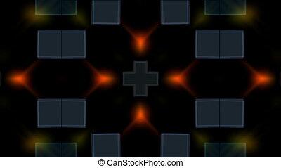 Flying cubes kaleidoscope
