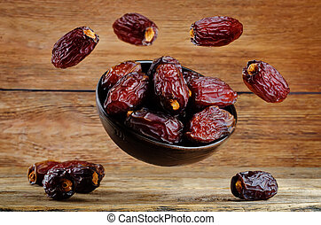 Flying Dates fruits in a bowl
