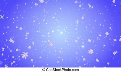 Flying decorative snowflakes. Winter, Christmas, New Year....
