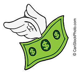 Flying Dollar Bill