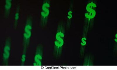 Flying dollar signs