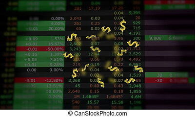 Flying dollars on market quotes