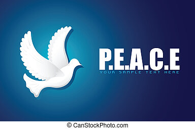 Flying Dove in Peace Background