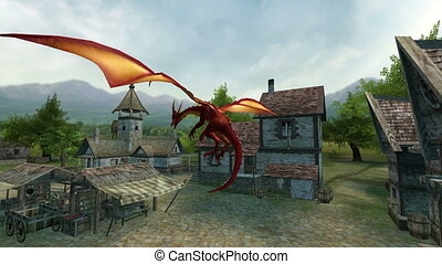 dragon - flying dragon