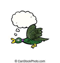 flying duck cartoon