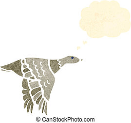 flying duck retro illustration