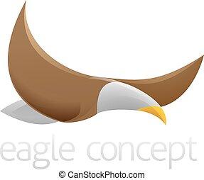 Flying eagle design