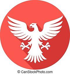 flying eagle flat icon