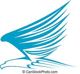 Flying eagle for emblem or mascot design