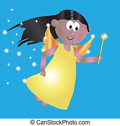 flying fairy - Vector Illustration of a flying fairy