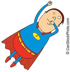 flying fat super hero