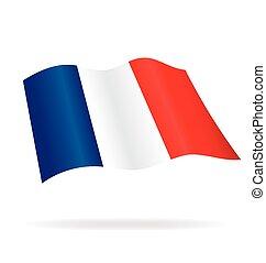 Silk Flying Flag of France Vector Image