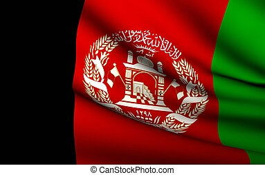 Flying Flag of Afghanistan | All Countries Collection |