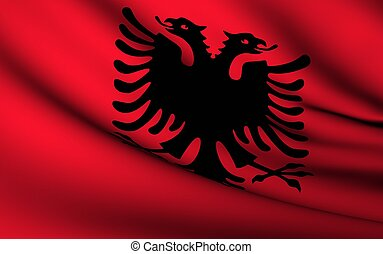 Flying Flag of Albania | All Countries Collection |